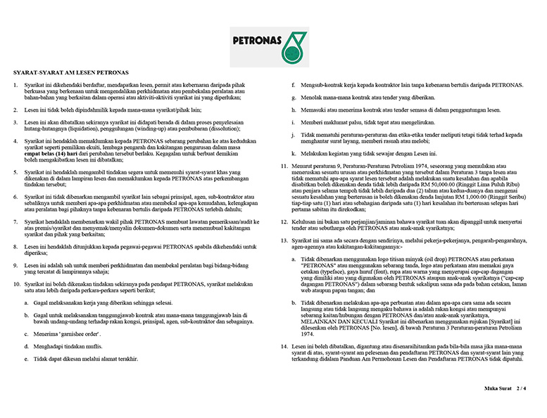 Petronas Licenses 02